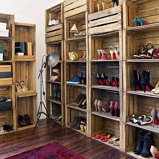 Oryginalny sposób naprzechowywanie butów, nawet tych wiosennych ieleganckich!