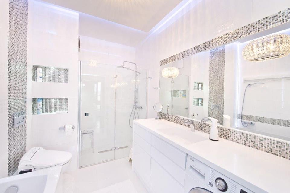 Prysznic bez brodzika włazience