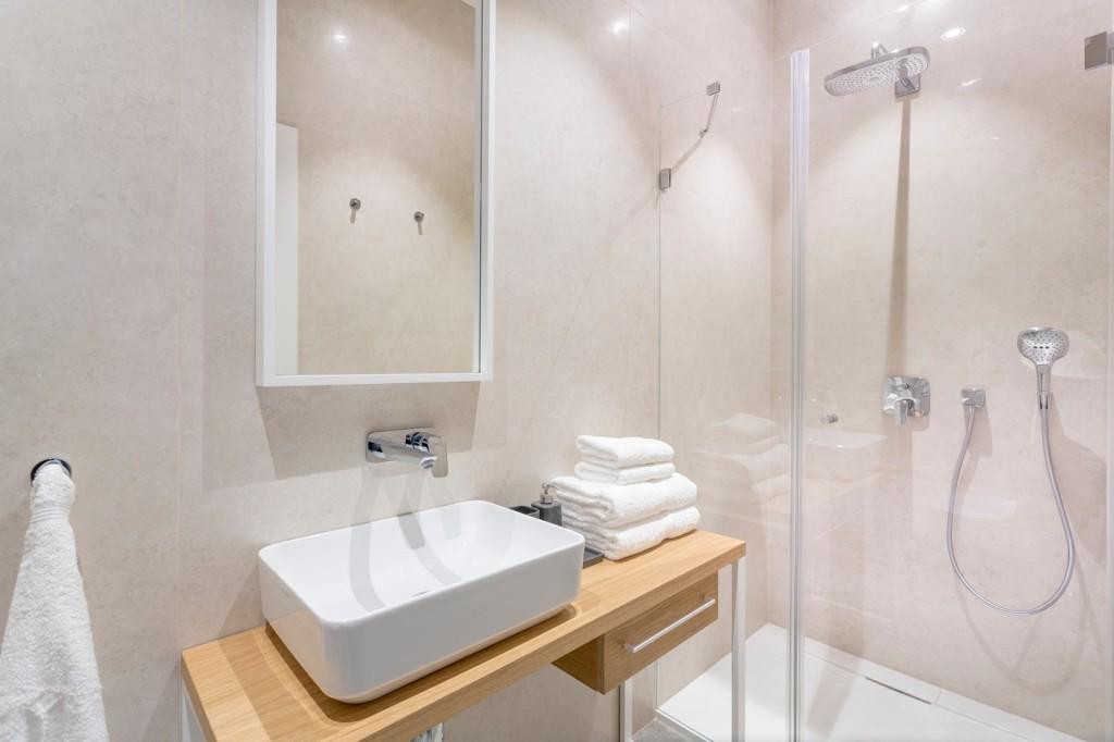 Łazienka wapartamencie hotelowym
