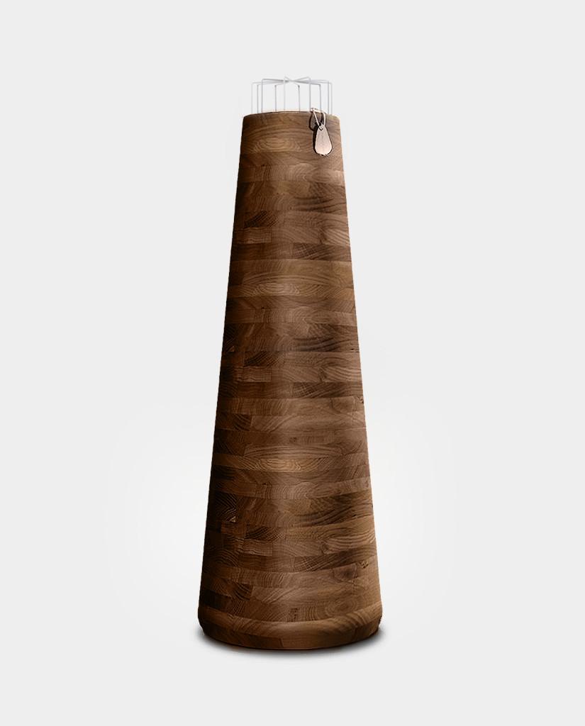Lampa bullet zlitego drewna